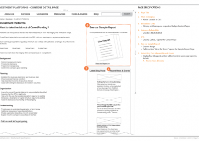 Sample Wireframe: Services